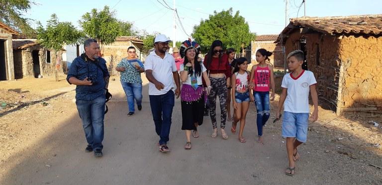 Visita a comunidades ciganas