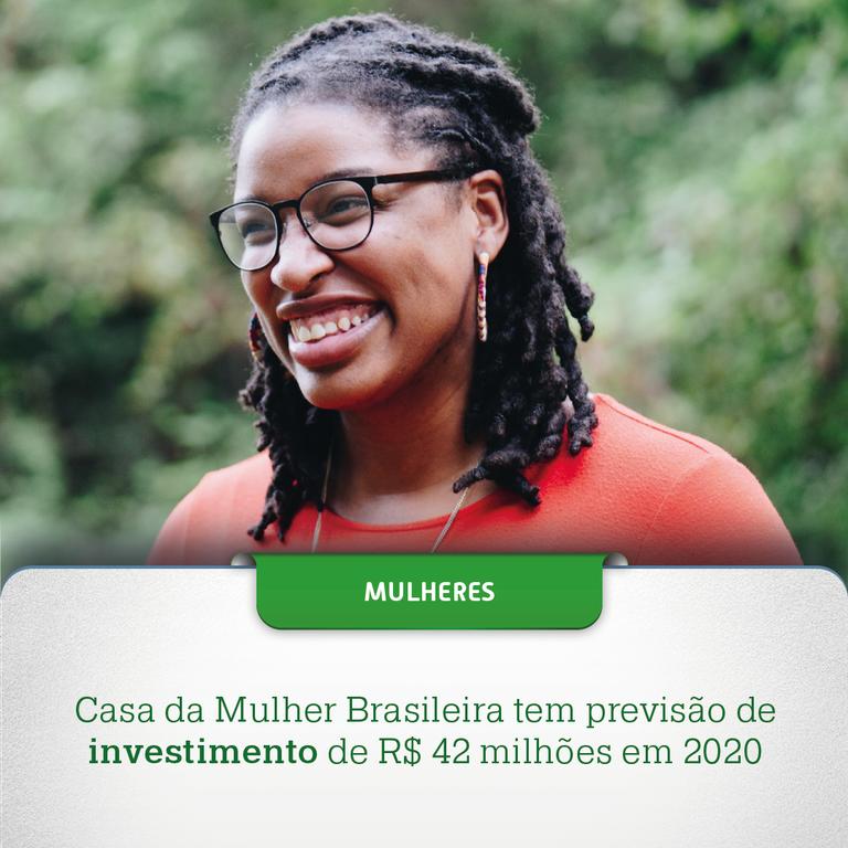 Casa da Mulher Brasileira tem previsão de investimento de R$ 42 milhões em 2020
