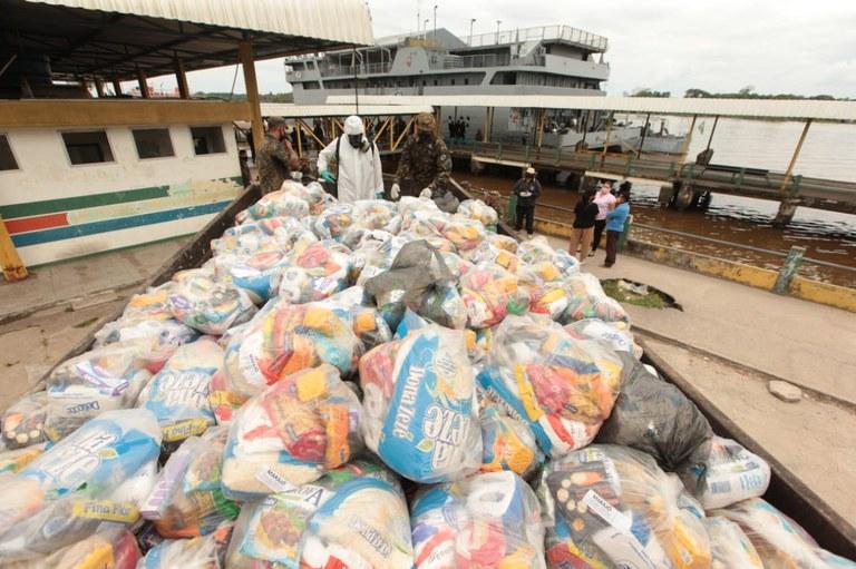Marajó recebe mais de 190 mil itens de higiene e 12,5 mil cestas de alimentos