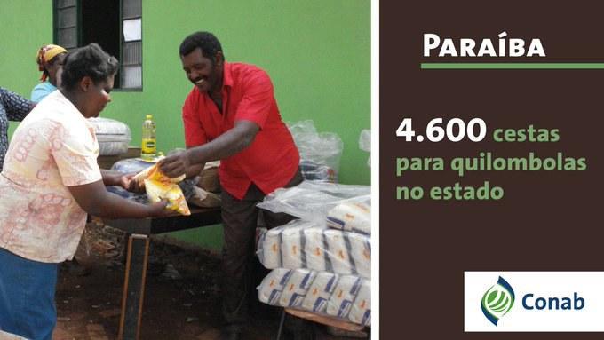 Quilombolas da Paraíba recebem 4,6 mil cestas de alimentos