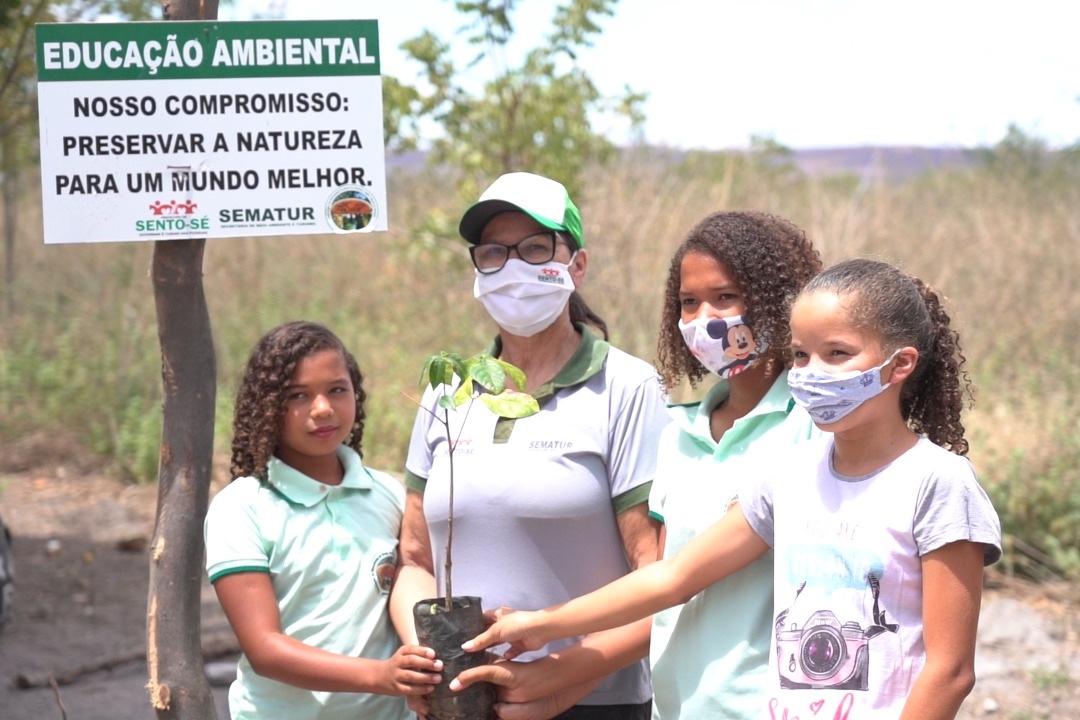 Projeto no distrito de Brejo da Brásida receberá investimentos de R$ 303 mil, aportados pela Engie Brasil Energia, Ao todo, serão plantadas 50 mil mudas de árvores como o juazeiro, embiruçu, aroeira, barriguda, jatobá, angico, jurema branca, jureminha e umburana de cheiro