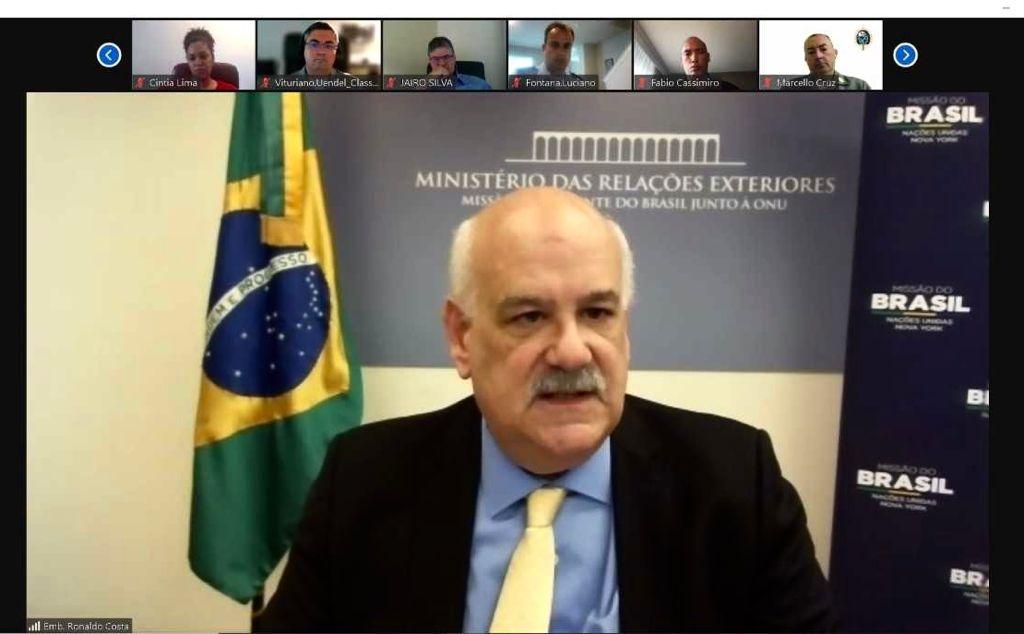 Palestra virtual do Representante Permanente do Brasil na ONU para oficiais brasileiros no Colégio Interamericano de Defesa