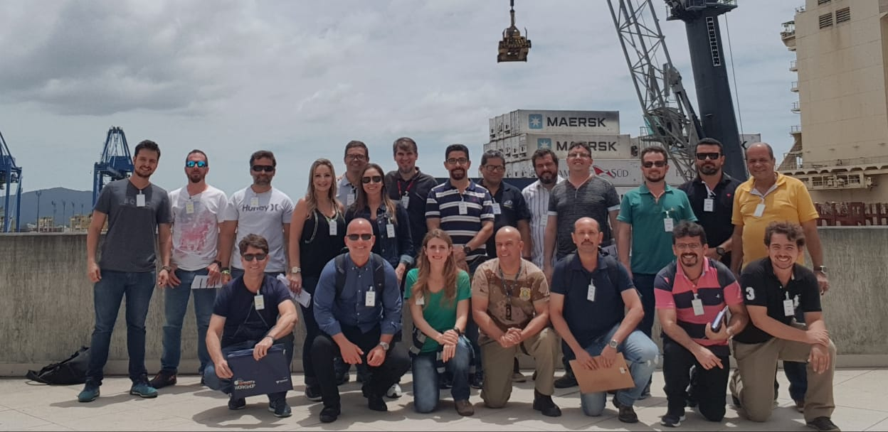 Análise 2018 Turma AFoto da visita técnica da parte A da turma de Análise de Riscos Itajaí 2018