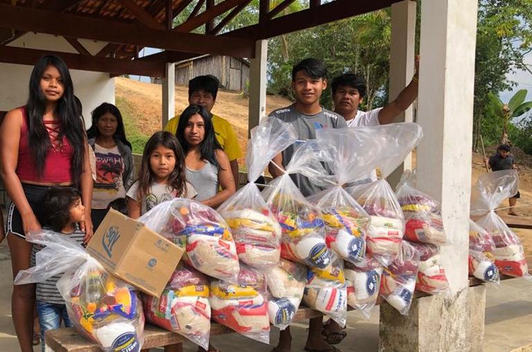 Governo Federal entrega cestas de alimentos a comunidades indígenas