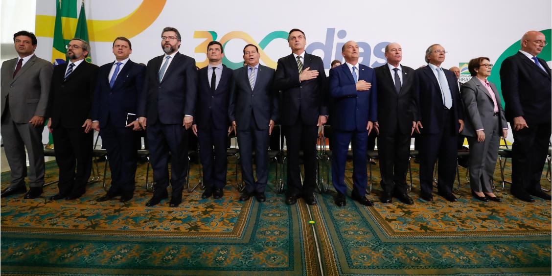 Presidente e ministros participam de evento que marca 300 dias de governo