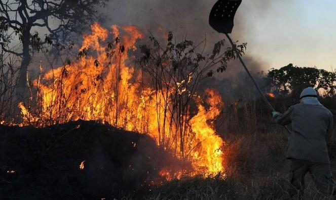 Combate a incêndios no Pantanal