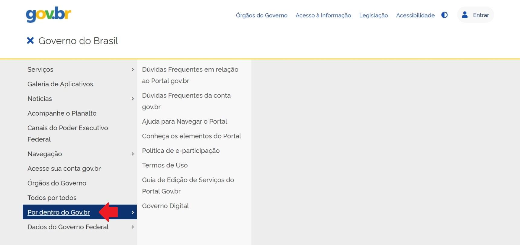 item por dentro do gov.br