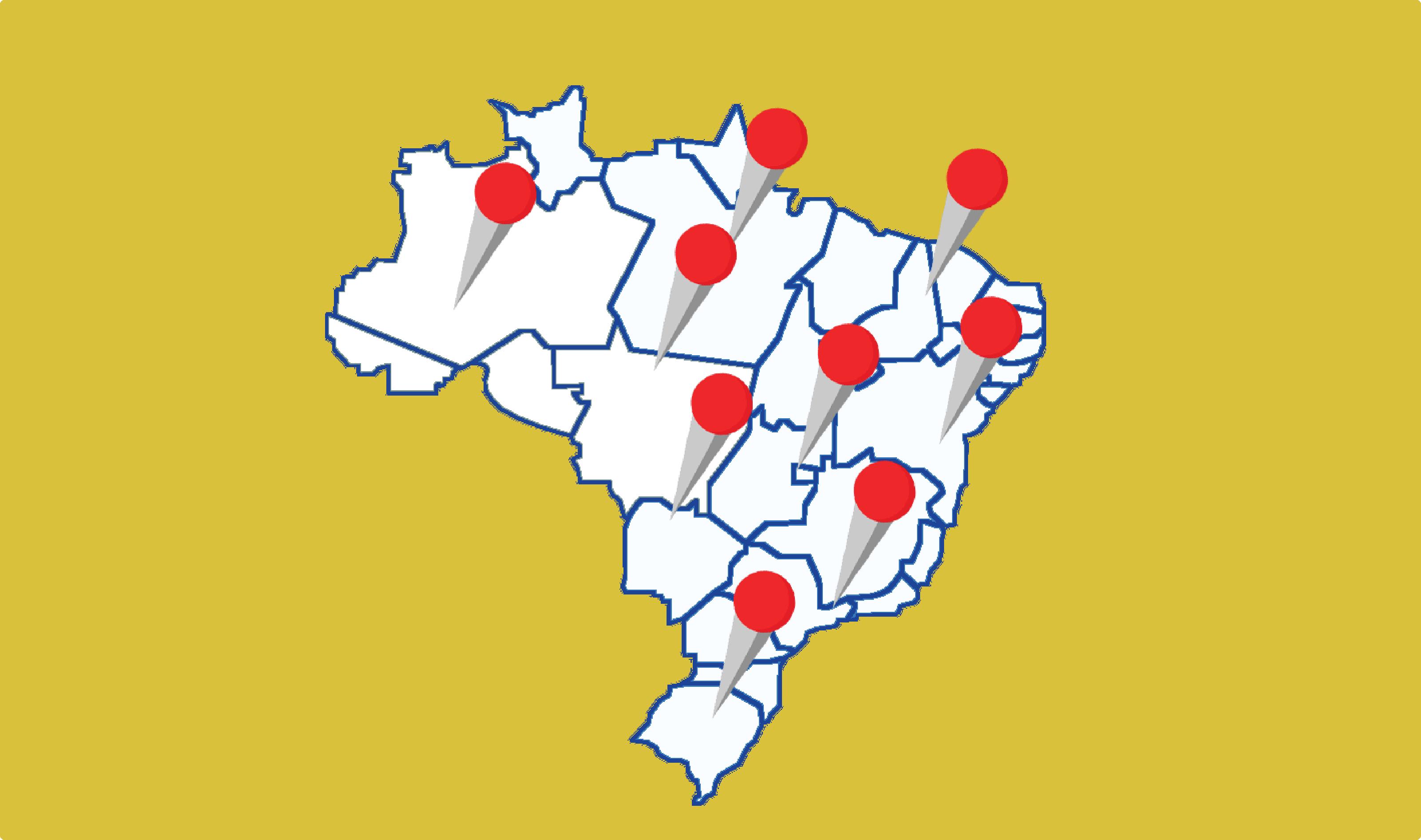 Núcleos no Brasil