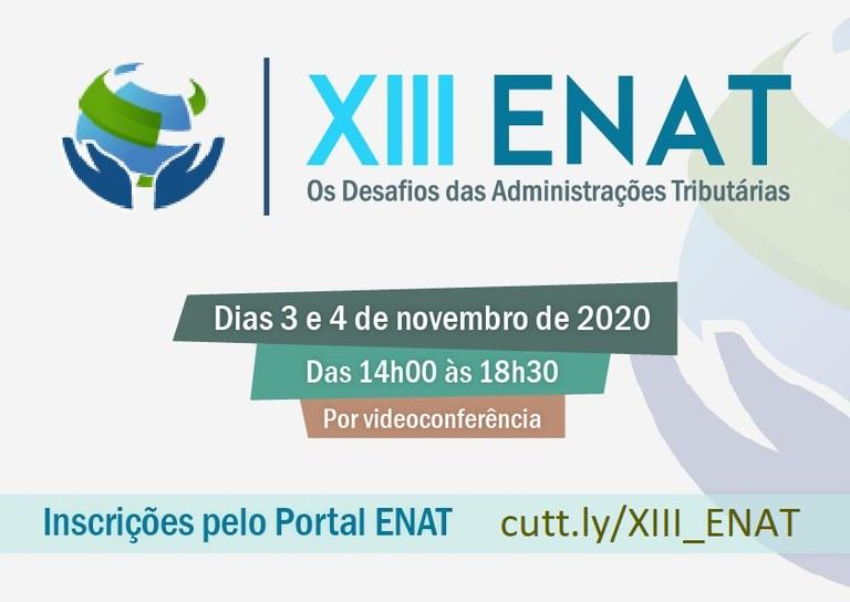 Receita Federal realiza a 13ª edição do Encontro Nacional de Administradores Tributários – XIII Enat