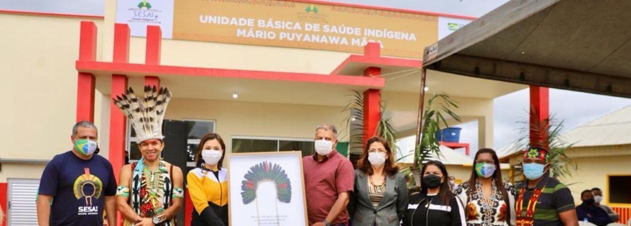 Secretário da SESAI inaugura primeira Unidade Básica de Saúde Indígena (UBSI) do DSEI Alto Rio Juruá