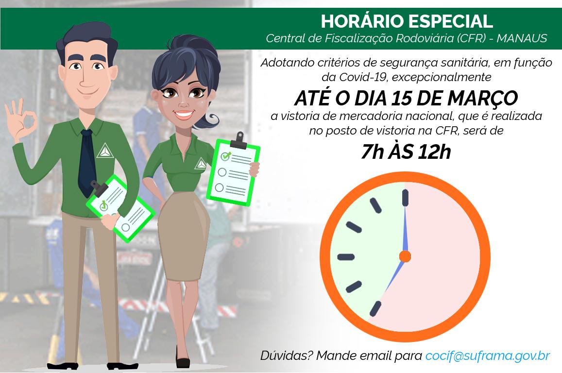 Situação da pandemia em Manaus levou à mudança no atendimento da Central de Fiscalização Rodoviária (CFR), que passa a fazer a fiscalização da mercadoria nacional apenas pelo horário da manhã.