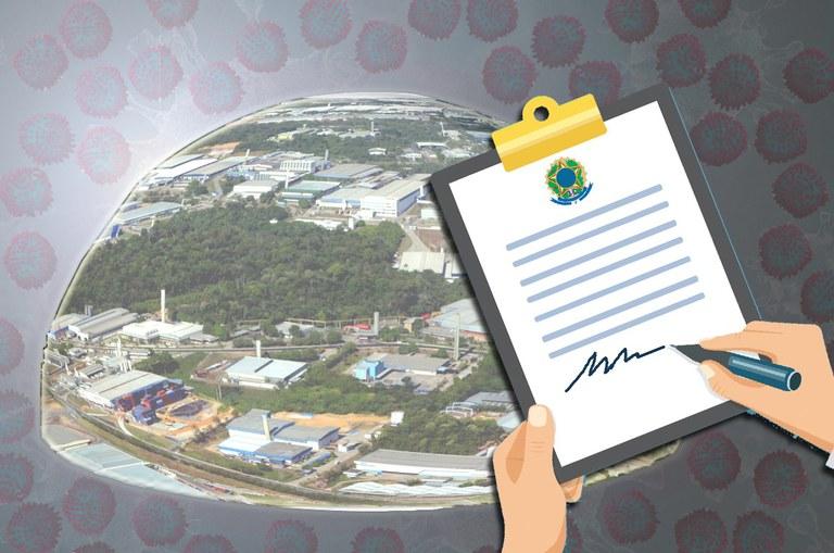 Portaria regulamenta procedimentos a empresas com projetos industriais ativos durante pandemia