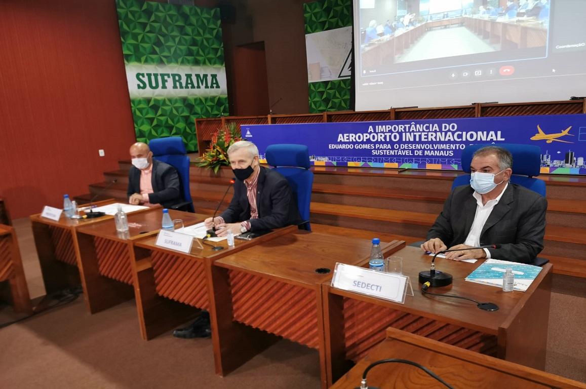 Medidas necessárias para transformar o aeroporto internacional Eduardo Gomes em ponto de conexão do Brasil com América do Norte e Caribe foram debatidas em evento com representantes de instituições públicas e privadas.