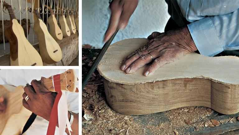 O modo de fazer a viola de cocho é um Patrimônio Imaterial do Brasil. Crédito: Iphan